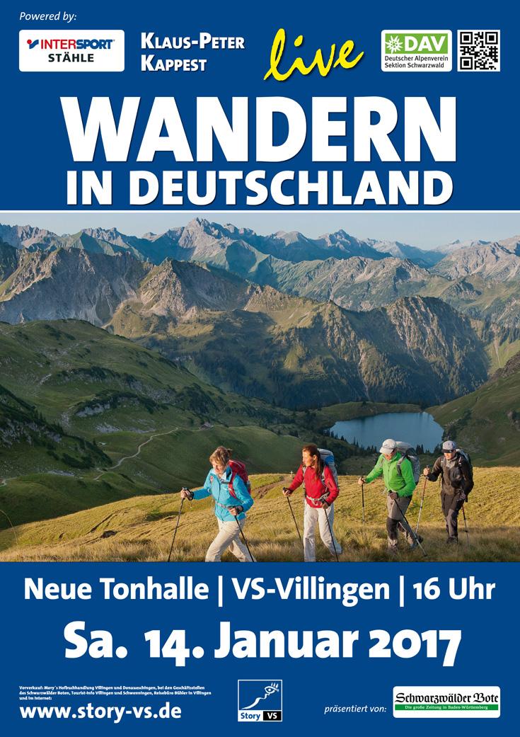 plakat wandern deutschland